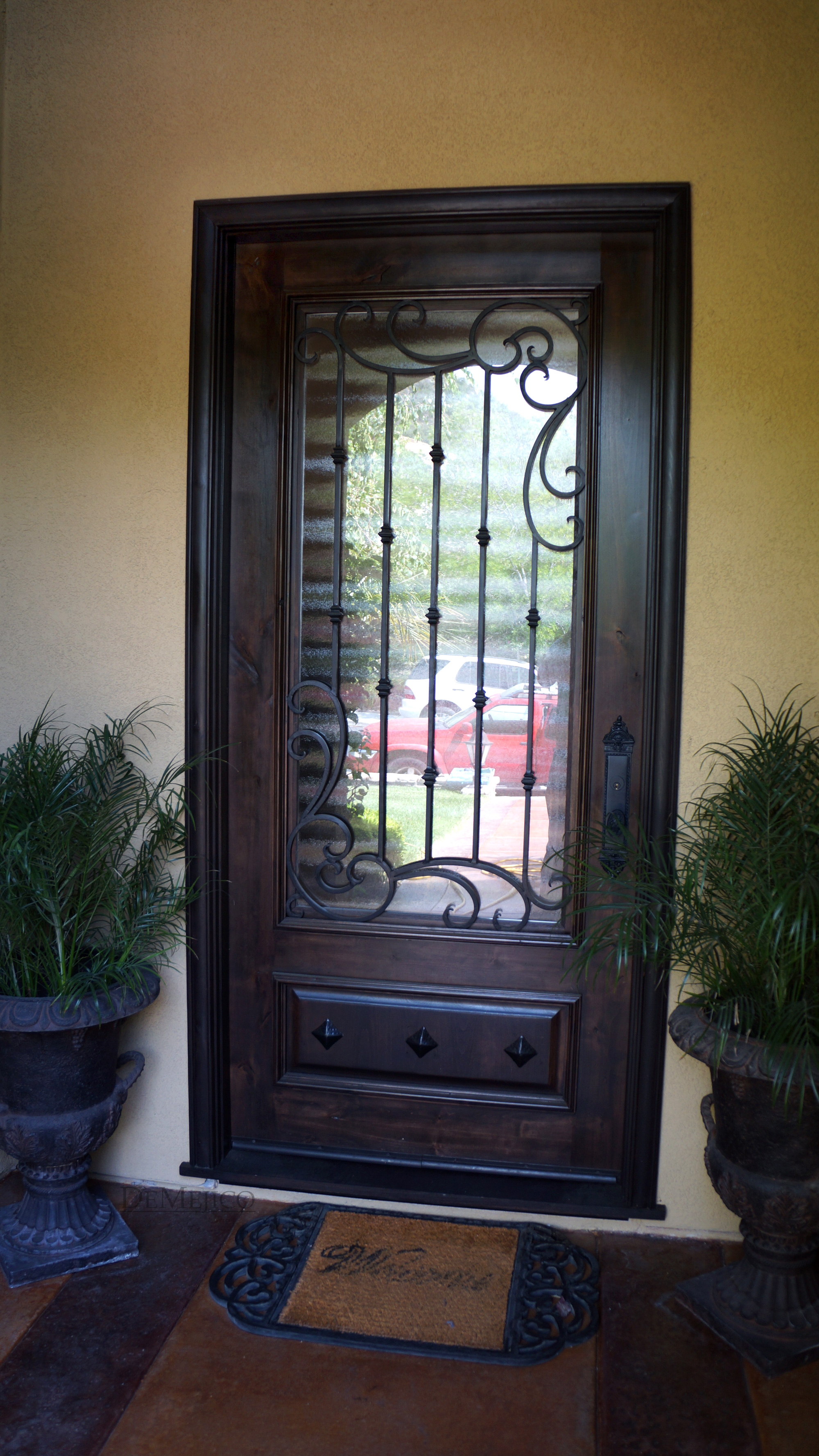 Front doors with glass and iron - All Products Floors Windows Doors Doors Front Doors