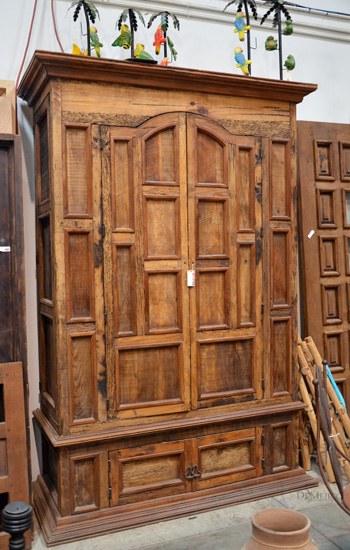 paneled armoire